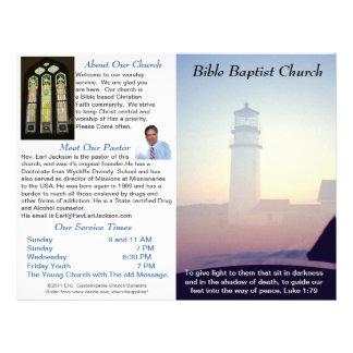 Customizable Weekly Church Bulletin (Outside Only) Letterhead