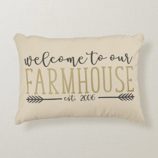 "Customizable ""Welcome to our Farmhouse"" Pillow"