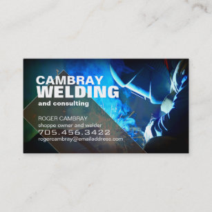customizable welder consultant business cards - Welding Business Cards
