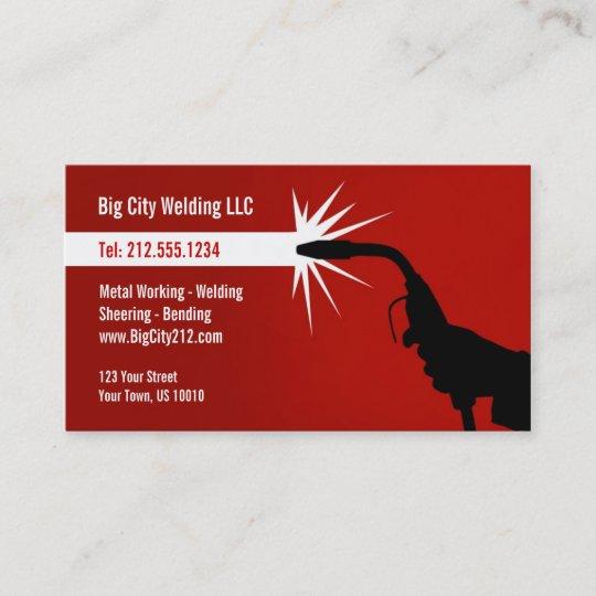 customizable welding business card - Welding Business Cards
