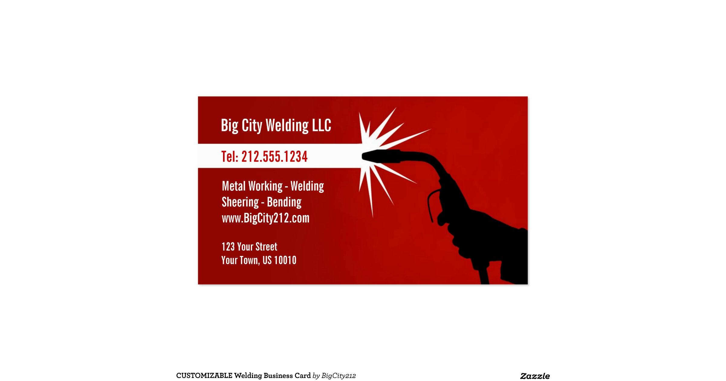 Customizable welding business card for Welding business card ideas