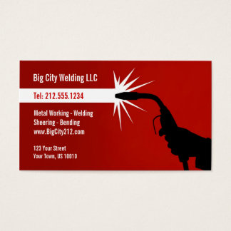 CUSTOMIZABLE Welding Business Card