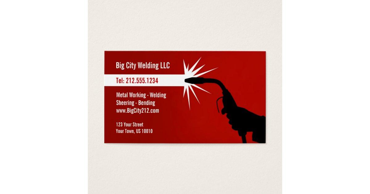 CUSTOMIZABLE Welding Business Card | Zazzle.com