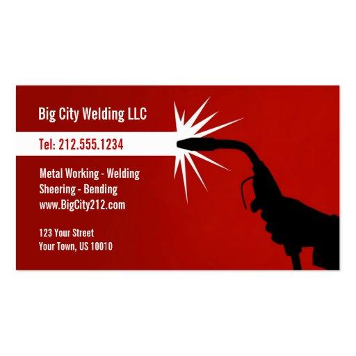Customizable welding business card for Welder business cards