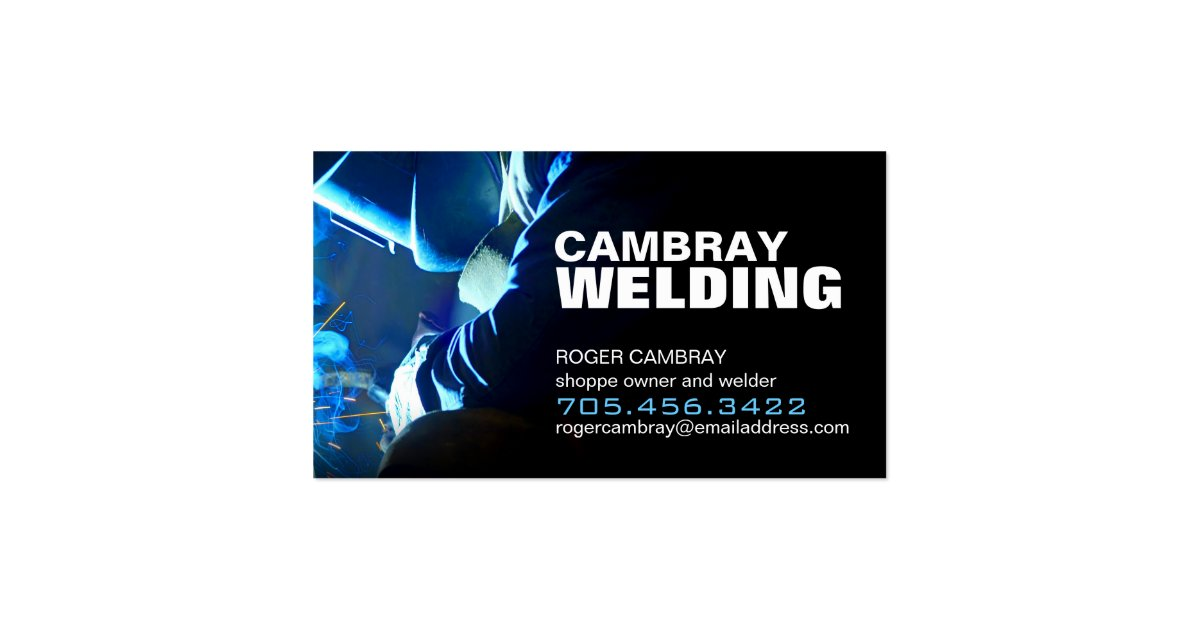 Customizable welding business cards zazzle for Welder business cards