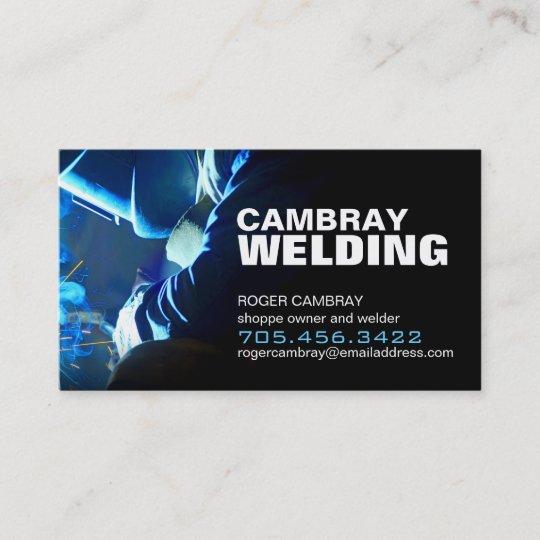 Customizable Welding Business Cards