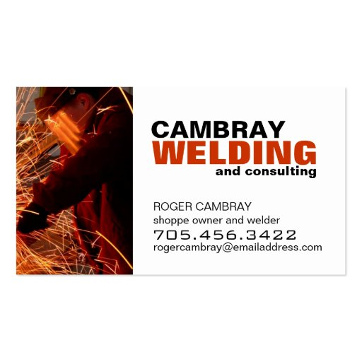 Customizable welding consultant business cards zazzle 01794 area code