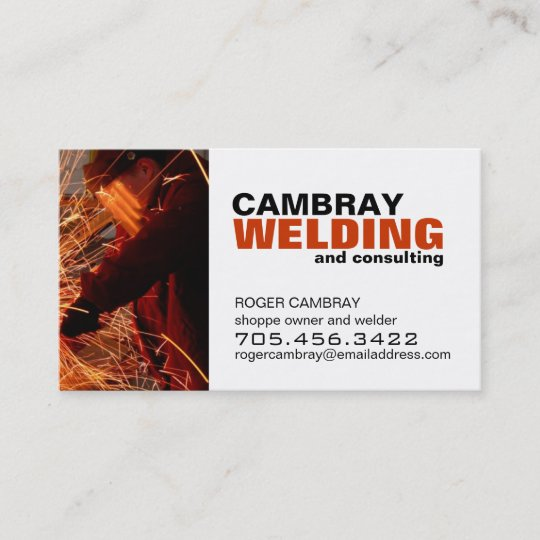 Welding Consultant Business Cards