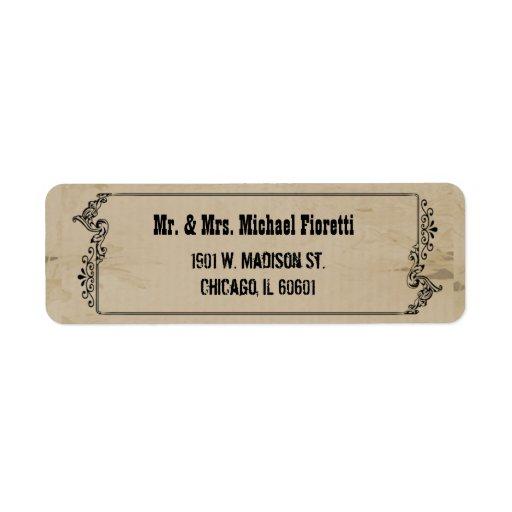 Customizable Western Inspired Return Address Label