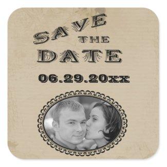 Customizable Western Style Save The Date Sticker sticker