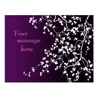 Customizable: White blossom Postcard