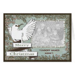 CUSTOMIZABLE White Dove Christmas Card