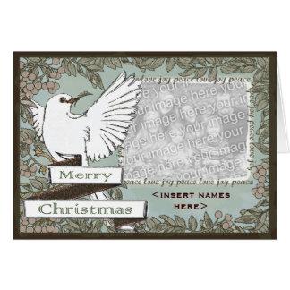 CUSTOMIZABLE White Dove Christmas Card
