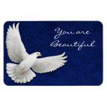 Customizable White Dove Premium Flexi Magnet