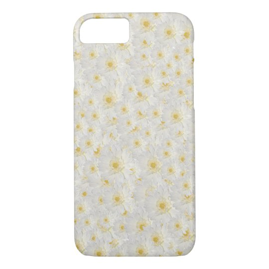 Customizable White Mums iPhone 8/7 Case