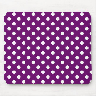Customizable White Polka Dot Gift Template Mouse Pad