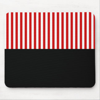 Customizable White Stripes Gift Template Mouse Pad