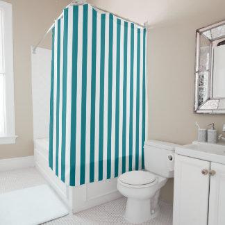 Customizable White Stripes Shower Curtain