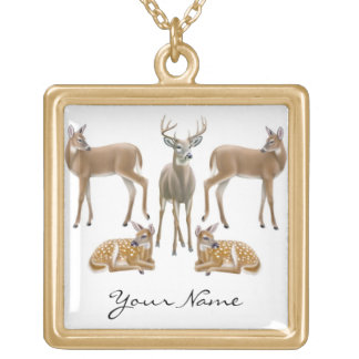 Customizable Whitetail Deer Necklace