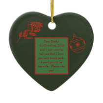 "CUSTOMIZABLE""WILL YOU MARRY ME"" CHRISTMAS ORNAMENT"