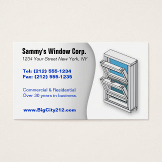 CUSTOMIZABLE Window Installer BC Business Card