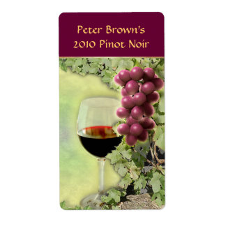 Customizable Wine Label Shipping Label
