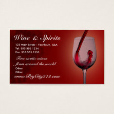 Customizable Wine Shop Business Cards at Zazzle
