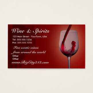 CUSTOMIZABLE Wine Shop Business Cards