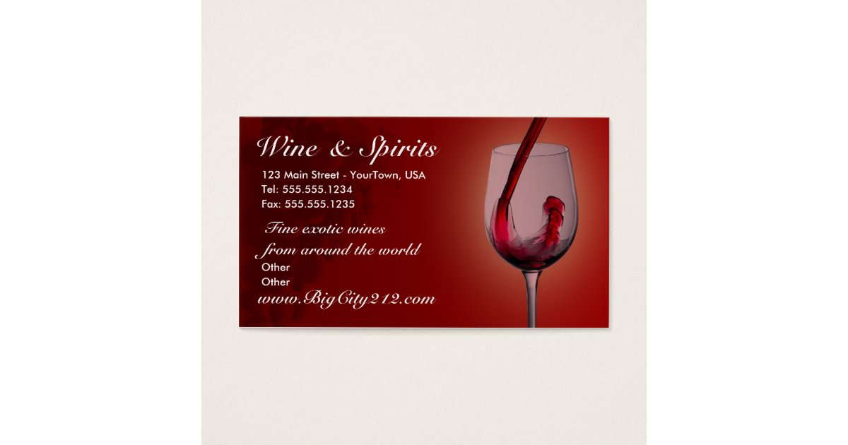Wine Business Cards & Templates | Zazzle