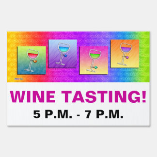 Customizable WINE TASTING - WINE PARTY SIGN