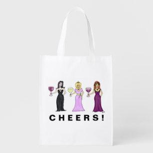 Customizable Wine Women Reusable Grocery Bag da2e3cd5b5