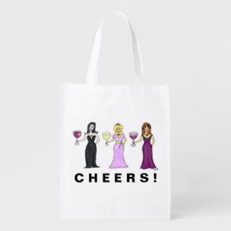 Customizable Wine Women Reusable Grocery Bag