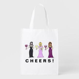 Customizable Wine Women Reusable Grocery Bags