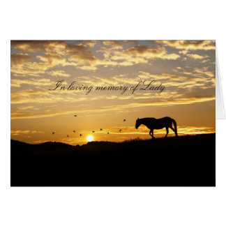 Customizable with Horse's Name Equine Sympathy Card