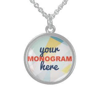 Customizable with your Monogram/Logo Sterling Silver Necklace