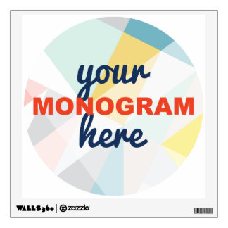 Customizable with your Monogram/Logo Wall Sticker