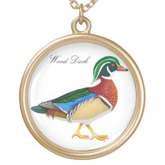 Customizable Wood Duck Necklace