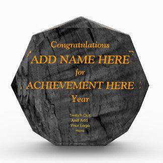 Customizable Wood Grain Acrylic Award