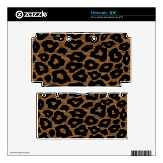 Customizable Wood Leopard Skins For 3DS