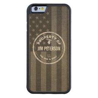 Customizable Wood Phone Case Maple iPhone 6 Bumper Case