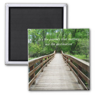 Customizable Wooden Bridge Photo Print Magnet