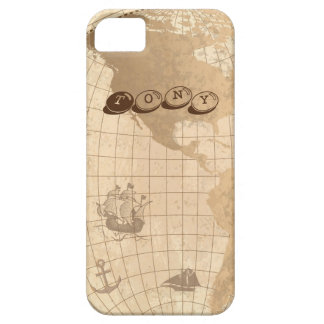 Customizable World Map Design iPhone 5 Cases