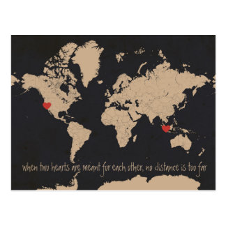 Customizable World Map Save the Date Postcard