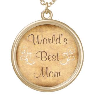 Customizable World's Best Mom Necklace