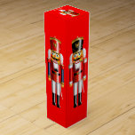 "Customizable Xmas Nutcrackers Wine Gift Box<br><div class=""desc"">This wine gift box, ideal to wrap your bottle for the next holiday party, features colorful nutcracker toy soldiers in hussar uniforms on each side, set on a red background. It was inspired by the popular Christmas ballet ""The Nutcracker."" Customize this box with any name or message you like and...</div>"