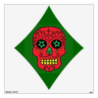 Customizable Xmas Sugar Skull Wall Sticker