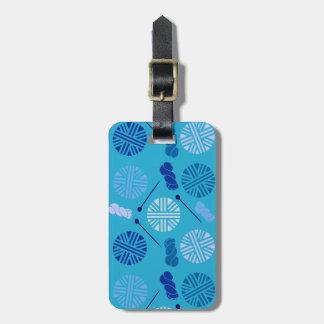 Customizable Yarn Print Luggage Tag