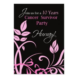 Customizable Year 10, Ten Year Cancer Survivor Par Card