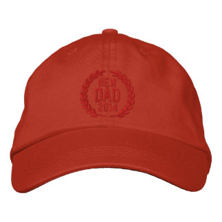 Customizable YEAR for New Dad Laurels Embroidery Baseball Cap