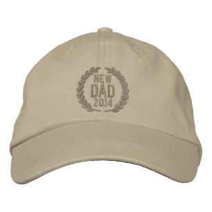 9c7059d6863 Customizable YEAR for New Dad Laurels Embroidery Embroidered Baseball Hat